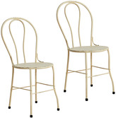 Rejuvenation Pair of Willis Hospital Chairs w/ Weathered Finish