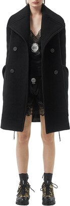 Burberry Oversize Notch Collar Peacoat