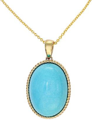 Effy 14K 9.31 Ct. Tw. Diamond & Turquoise Pendant Necklace