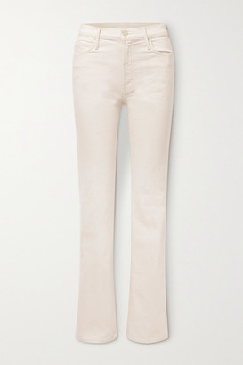 Mother The Kick It High-rise Bootcut Jeans - Off-white