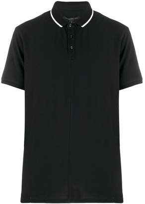 John Varvatos contrasting trim polo shirt