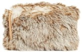 Nordstrom Cuddle Up Faux Fur Pouch - Ivory