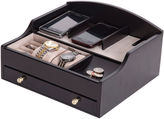 Mele Mens Java-Finish Jewelry Box & Charging Station