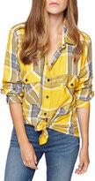 Sanctuary Plaid Boyfriend Shirt, Yellow