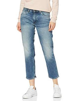 ONLY NOS Women's Onlray Mid Straight Crop Jeans Rim19356,(Size: 30)