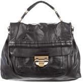 Nina Ricci Pleated Leather Satchel
