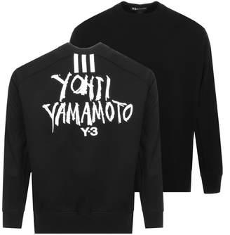Y-3 Y3 Oversized Logo Sweatshirt Black