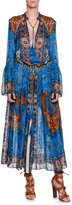 Etro Saffron Printed Caftan Dress, Blue