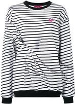 McQ by Alexander McQueen broken stripe sweatshirt - women - Cotton - XS