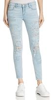 True Religion Casey Distressed Super Skinny Jeans in Indigo Atlantis
