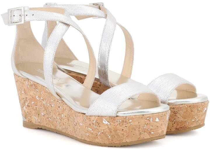 Jimmy Choo Portia 70 leather platform sandals