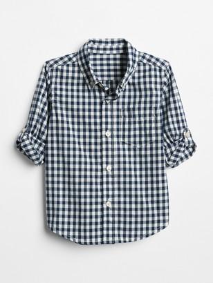Gap Toddler Gingham Convertible Shirt