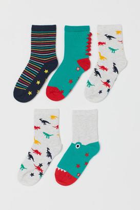 H&M 5-pack Non-slip Socks - Green