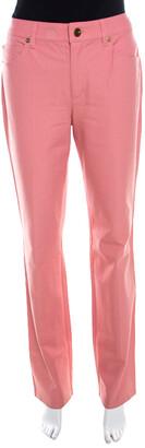 Escada Framboise Pink Stretch Denim High Rise Straight Leg Tessa Jeans M