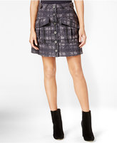 Rachel Roy Button-Front Utility Skirt