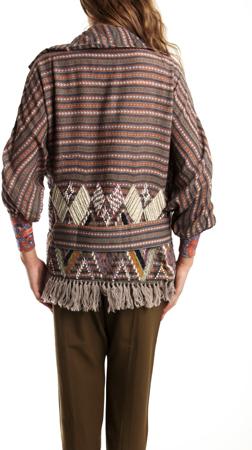 Suno Yarn Embroidery Shawl Jacket