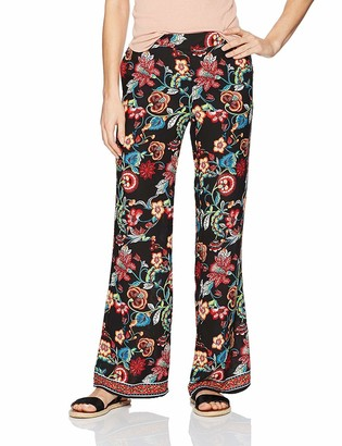Amy Byer A. Byer Women's Printed Wide Leg Woven Pants