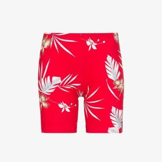 Paco Rabanne Hawaiian print logo cycling shorts