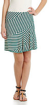 M.S.S.P. Striped A-Line Skirt