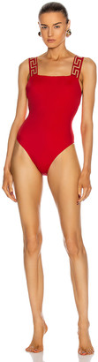 Versace One Piece Swimsuit in Red | FWRD