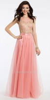 Camille La Vie Two Piece Embroidered Tulle Prom Dress