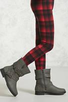 Forever 21 Girls Studded Moto Boots (Kids)