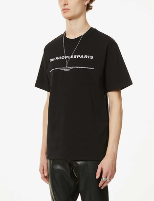 The Kooples Brand-print cotton-jersey T-shirt