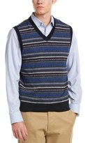 Brooks Brothers V-neck Merino Wool Vest.