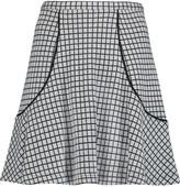 See by Chloe Checked jacquard-knit mini skirt