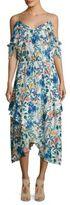 Parker Kam Floral Silk Dress