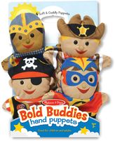 Melissa & Doug Bold Buddies Hand Puppets (Set of 4)