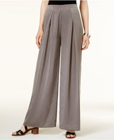 Bar III Pleated Wide-Leg Soft Pants, Created for Macy's