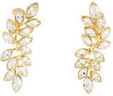 Kenneth Jay Lane Crystal Leaf Earrings