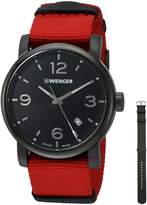 Wenger Men's 01.1041.132 Urban Metropolitan Analog Display Swiss Quartz Red Watch