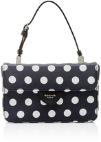 Rochas Leather Polka Dot Bag with Top Handle