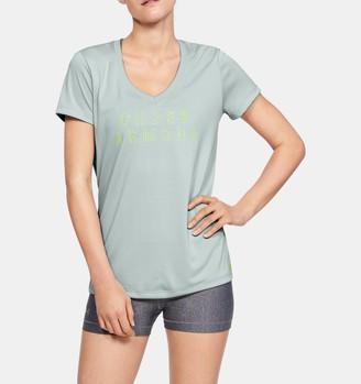 Under Armour Women's UA Tech Short Sleeve V-Neck Graphic