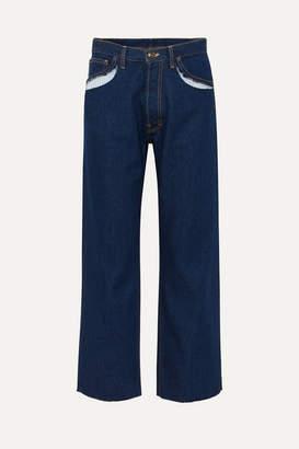 Maison Margiela Cutout High-rise Straight-leg Jeans - Blue