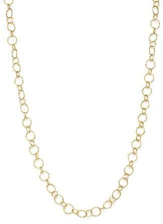 "Armenta 18K Yellow Gold Sueno Long Circle Link Necklace, 35.5"""