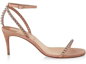 Christian Louboutin So Me Spike Suede Sandals