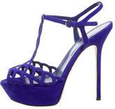 Sergio Rossi Suede Platform Sandals