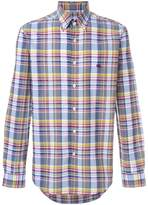 Etro long sleeve check shirt