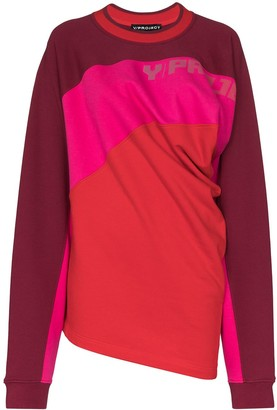Y/Project Twisted-Front Colour-Block Jumper
