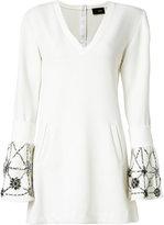 Andrea Bogosian - embroidered flare dress - women - Polyester/Spandex/Elastane/Viscose - M