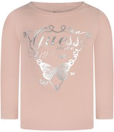 GUESS Pink Butterfly Logo Top