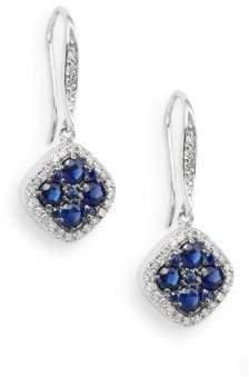 Effy Sapphire, Diamond & 14K White Gold Drop Earrings