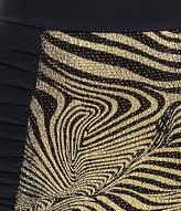 Pistol Panties Vintage Style Black & Gold Swirl Frankie High Waist Bandeau Bikini