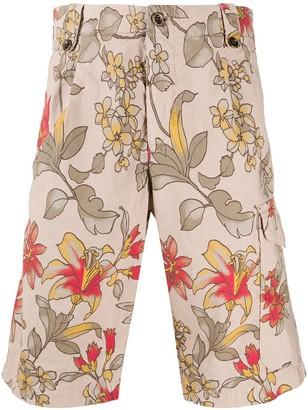 Myths Floral-Print Cargo Shorts