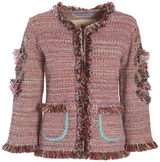 Red & Pink Classic Jacket Eulaia