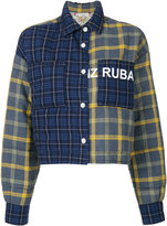 Natasha Zinko cropped plaid jacket - women - Cotton/Polyester - 32