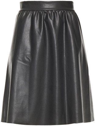Wolford Gathered Faux Leather Skirt
